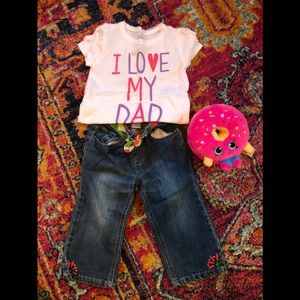 Gymboree jeans size 3T (shirt included)